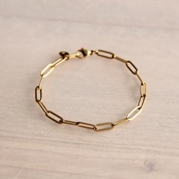 Gliederarmband, gold