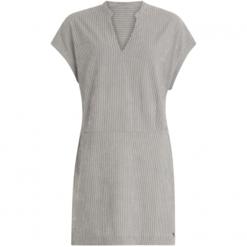 Coster Copenhagen, Dress in stripe with cutline in waist
