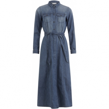 Coster Copenhagen, Dress in denim with long sleeves
