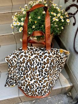Mycha Ibiza, Big Shopper leopard weiß