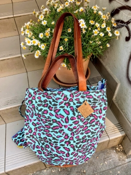 Mycha Ibiza, Big Shopper leopard türkis