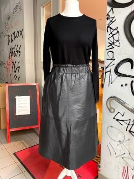 Coster Copenhagen, A-line Leather Skirt