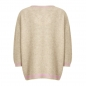 Preview: Coster Copenhagen, Sweater with v-neck and contact stripe, hazel