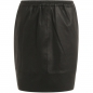 Preview: Coster Copenhagen, Skirt in leather with elastic in waist, black