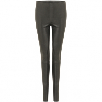 Coster Copenhagen, Leather leggings with shiny glitter look
