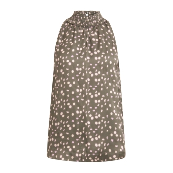 Coster Copenhagen, Top in moon print with smock neck