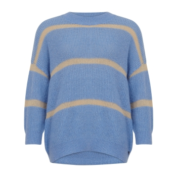 Coster Copenhagen, Sweater in alpaca with stripe detail
